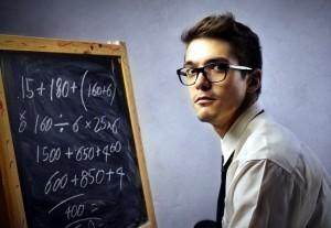 мужчина у школьной доски