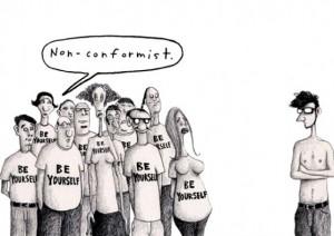 конформизм - карикатура