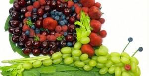 улитка из ягод и листьев